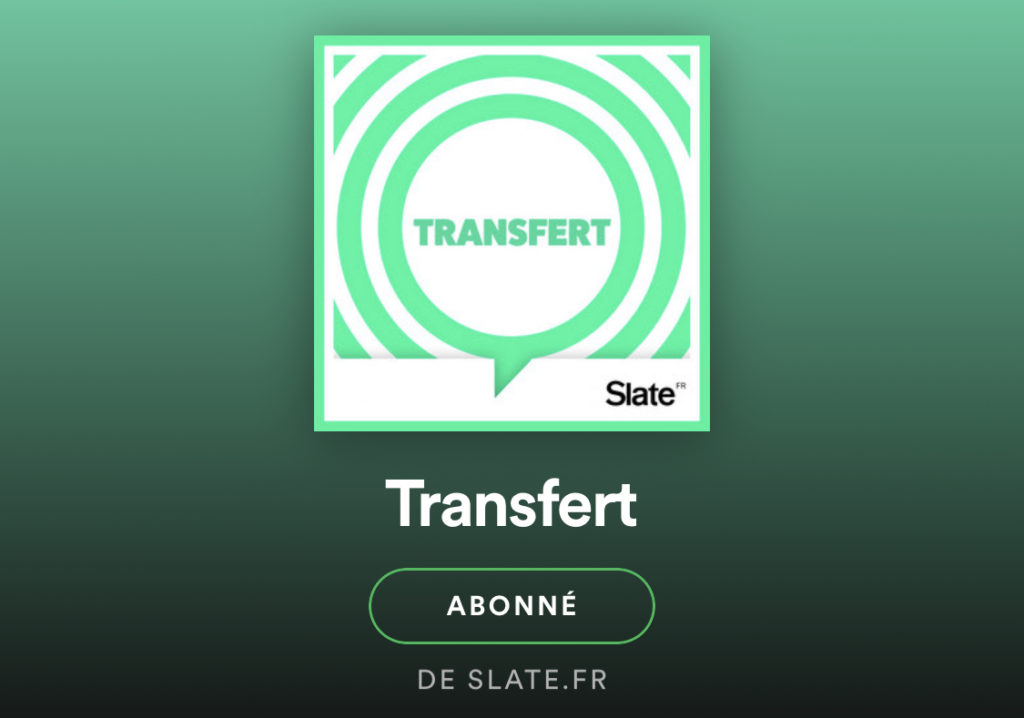 podcast transfert